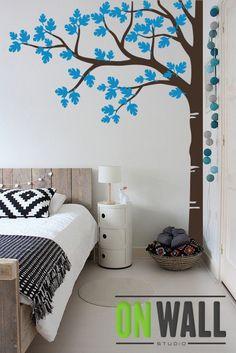 Vitromosaico Ideas Painting Tree Ideas Wall Decor Along with publications Painting Walls Tips, Home Wall Painting, Tree Wall Decor, Diy Wall Decor, Room Decor, Tree On Wall, Creative Wall Decor, Creative Walls, Wall Art Designs