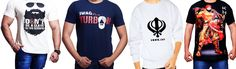 Buy Punjabi T-Shirts for Men - Buy Mens T-Shirts Online , Check latest collections and trends in Men's T-Shirts and shop online at India's Best Online Shopping Site Khalsastore.