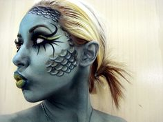 fish face makeup (halloween)