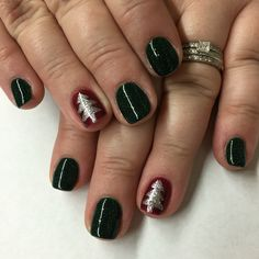 #christmasnails #christmastreenails