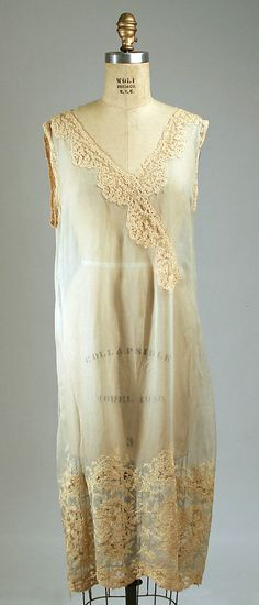 Nightgown Date: 1929 Culture: American Medium: silk Accession Number: 1974.175