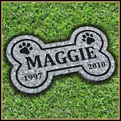 Pet Memorial Grave Marker 7 x 12 Bone Shaped Headstone Dog Cat Gravestone Pet Memorial Stones, Pet Memorial Gifts, Cat Memorial, Memorial Ideas, Pet Headstones, Pet Grave Markers, Memorial Markers, Pet Cemetery, Pet Remembrance