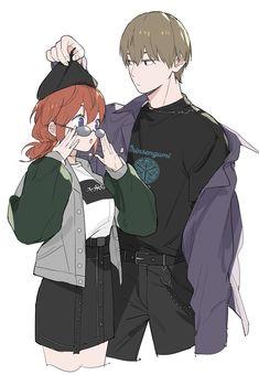 "Maosen毛森 on Twitter: ""… "" Anime Cupples, Anime Art, Gintama Wallpaper, Anime Drawing Styles, Okikagu, Anime Love Couple, Korean Art, Drawing Skills, Cute Icons"