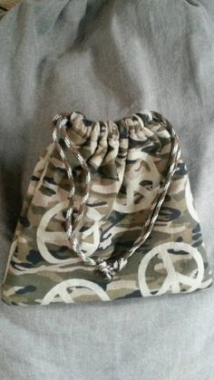 Check out this item in my Etsy shop https://www.etsy.com/listing/271493978/camo-gift-bag-drawstring-pouch-peace