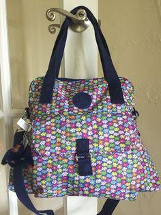 Kipling Pahneiro Shoulder Bag Crossbody Poppy Spray Multi Floral Print #Kipling #ShoulderBag