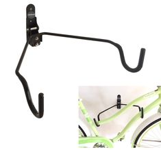 LifeStore Adjustable Tilt Wall Mount Bike Bicycle Storage Rack Hanger Hook. ADJUSTABLE RACK: to handle all types of bike frames. 100% Solid Steel Construction for maximum durability. SOFT RUBBER Coated hooks protect bike frame and prevent sliding & Folds up when not in use to save space. ALL MOUNTING SCREWS and Anchors are INCLUDED! It is highly recommended to install the racks to a wood stud. HOLDS up to 50 lbs of weight.