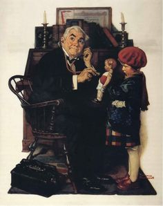 Doctor and Doll, Norman Rockwell