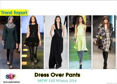 Dress Over Pants #FashionTrend for Fall Winter 2014 #Trends #Fall2014 #FW2014