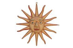 Antique Sun Sign. Antique Sunburst Face. Double by LeBonheurDuJour