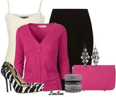 """Pink Zebra"" by leebee11 on Polyvore"
