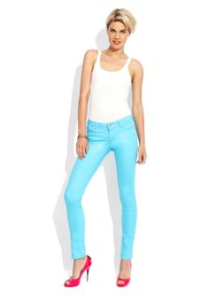 Hot color jeans from Hybrid.  Nice! $25