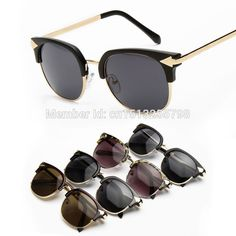 Find More Sunglasses Information about New 2015 Retro Half Frame Aviator Arrow Sunglasses Men and Women Dark Tint Lens Black Frame Metal Leg Spectacles Glasses Oculos,High Quality sunglasses led,China glasses half Suppliers, Cheap glasses for computer users from Yiwu Balance Glasses Trade Co., Ltd. on Aliexpress.com