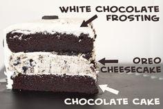 Oreo Cheesecake Cake from @ErinsFoodFiles