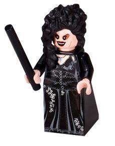 Bellatrix Lestrange with Wand - LEGO Harry Potter Minifigure @ niftywarehouse.com