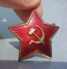 Red Star Cap Hat WoT Badge RUSSIAN BADGE WW2 USSR Military Army Original SALE