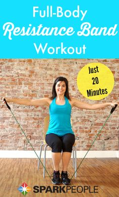 Tone up all over in 20 minutes using just a resistance band! | via @SparkPeople #fitness #workout #exercise