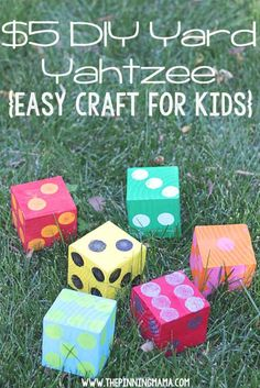 Cool Crafts You Can Make for Less than 5 Dollars   Cheap DIY Projects Ideas for Teens, Tweens, Kids and Adults   DIY Yard Yahtzee   http://diyprojectsforteens.com/cheap-diy-ideas-for-teens/