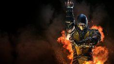 Download Scorpion Flame Mortal Kombat X Wallpaper 1920x1080