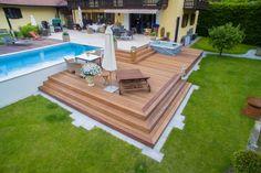 von der terrasse in den pool - Google-Suche Den, Yard, Google, Outdoor Decor, Home Decor, Terrace, Search, Homemade Home Decor, Garten