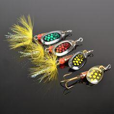 1PC Size0-Size5 Fishing Hard Lure Bait Leurre Peche Mepps Spoon Fishing Tackle Vissen Pesca Acesorios