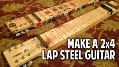 Make a 2x4 Lap Steel Guitar DIY from materials around your garage. From music makers CigarBoxNation.com