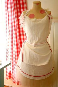 DIY French- inspired Tea Towel Apron