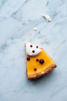 Lemon & Earl Grey Tart with Buttermilk Chantilly and Raspberry Fluid ...