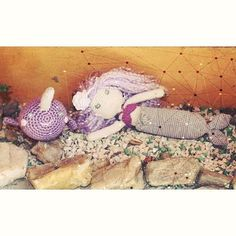 Liza e Nix - A sereia e o narval. #crochet #crochetlovers #amigurumi #feitoamao…