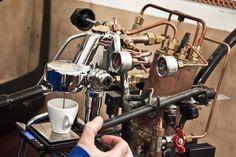 Old School Vintage Espresso Machine