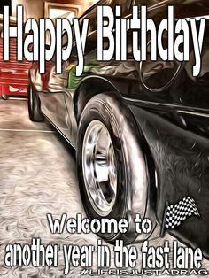 Happy birthday race car