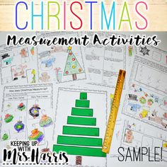 Christmas Measurement Activity - FREE Sample by Keeping Up with Mrs Harris | Teachers Pay Teachers