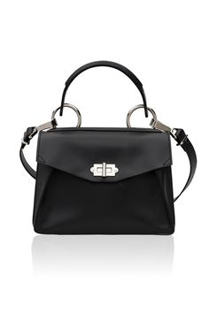 Proenza Schouler Small Hava Top Handle Smooth Leather Black by Mrs H Black  leather small top f9acaaec66adb
