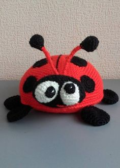 Lady Bug Crochet ladybug Amigurumi Soft toy Plush doll by VIKcraft on Etsy