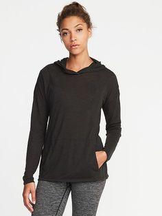 Go-Dry Slub-Knit Pullover Hoodie for Women