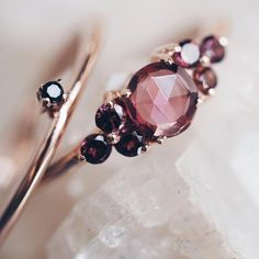 Runes & Realm Ring Set is available in 18k solid gold or rose gold, features A-grade gemstones. - This ring is ethically handmade in India, vegan jewellery