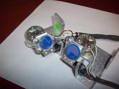 Qty 2  LEDEX Rotary Solenoids  H-1024-032  + custom flipper arms + LASER Mirrors #LEDEXRotarySolenoids