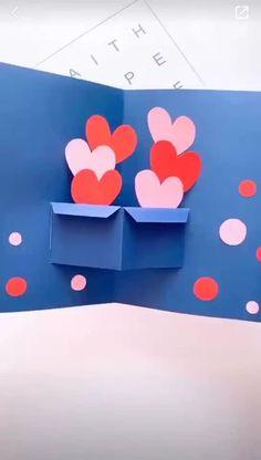 Cool Paper Crafts, Paper Crafts Origami, Diy Paper, Fun Crafts, Paper Art, Crafts For Kids, Diy Origami Cards, Paper Flowers Craft, Kraft Paper