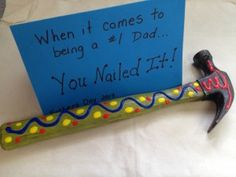 Nothing is better for a dad than to receive a gift created from the heart. Check out this fab Father's Day DIY Gift Idea, a You Nailed It craft! Diy Father's Day Gifts For Grandpa, Diy Father's Day Gifts From Baby, Happy Daddy, Daddy Day, Dad Crafts, Fathers Day Crafts, Craft Gifts, Diy Gifts, Craft Cards