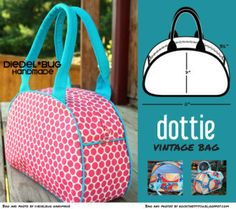 Swoon Dottie Vintage Bag | YouCanMakeThis.com $5.95 for pattern only