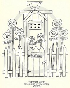 Garden Gate Embroidery EPattern