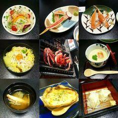 #Kani #kaiseki meal! Salad sashimi boiled chawanmushi siu mai gratin soup chirashi. So much #crab all for me....feeling #shellfish ;) #punny #Sapporo by roams