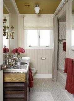Airy Transitional Bathroom by Kathryn Scott