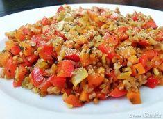 Kasza gryczana z warzywami i parmezanem