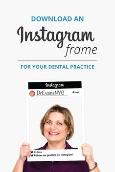 Free dental Instagram frame! Whether you are just starting, or looking to gain more followers, this free printable Instagram frame download will help you promote your page! Dental marketing, Instagram marketing for dentists, Dental practice Instagram marketing, marketing for Dentists, Instagram Tips for Dentists, Dental Instagram Growth, How to Grow Your Dental Practice Instagram Account, Marketing ideas for Dentists, Marketing ideas for Dental Practices Instagram Frame, Instagram Sign, Free Instagram, Instagram Ideas, My Social Practice, Orthodontics Marketing, Frame Download, Free Dental, Dental Facts