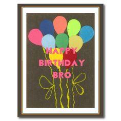 Happy Birthday #Bro http://www.zazzle.ca/achempong* I miss You sentimental  #personal #ideas Postcard Horizontal Template