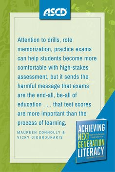 """This not a test-prep book. It is not about """"drill and kill"""" practices that narrow learning so that students will pass an exam. Instead, authors Maureen Connolly and Vicky Giouroukakis present a lesson planning approach for the secondary classroom that generates test success as a byproduct of comprehensive literacy learning."""