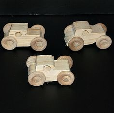 Pkg of 3 Handcrafted Wood Toy Cars unfinished or finished Wood Projects, Craft Projects, Projects To Try, Wooden Truck, Wood Glue, Scroll Saw, Wood Toys, Stocking Stuffers, Wood Crafts