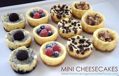 Mini Cheesecakes - 1 Recipe, 4 Different Types! | From Marriage to Motherhood
