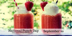 National Punch Day... but did you know the original recipe called for alcohol? via @nationaldaycal