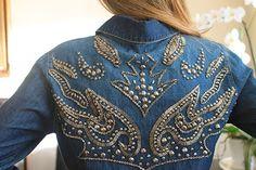 camisas jeans bordadas - Pesquisa Google Diy Jeans, Love Jeans, Denim Fashion, Boho Fashion, Looks Country, Denim And Diamonds, Denim Art, Mode Boho, Embroidered Jacket